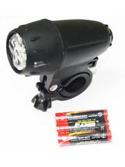 Фонарь передний  Vinca Sport 5 диода с батарейками